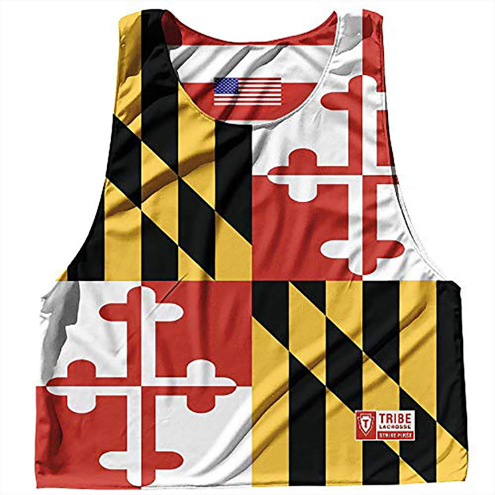 Maryland State Flag and American Flag Reversible Lacrosse Pinnie