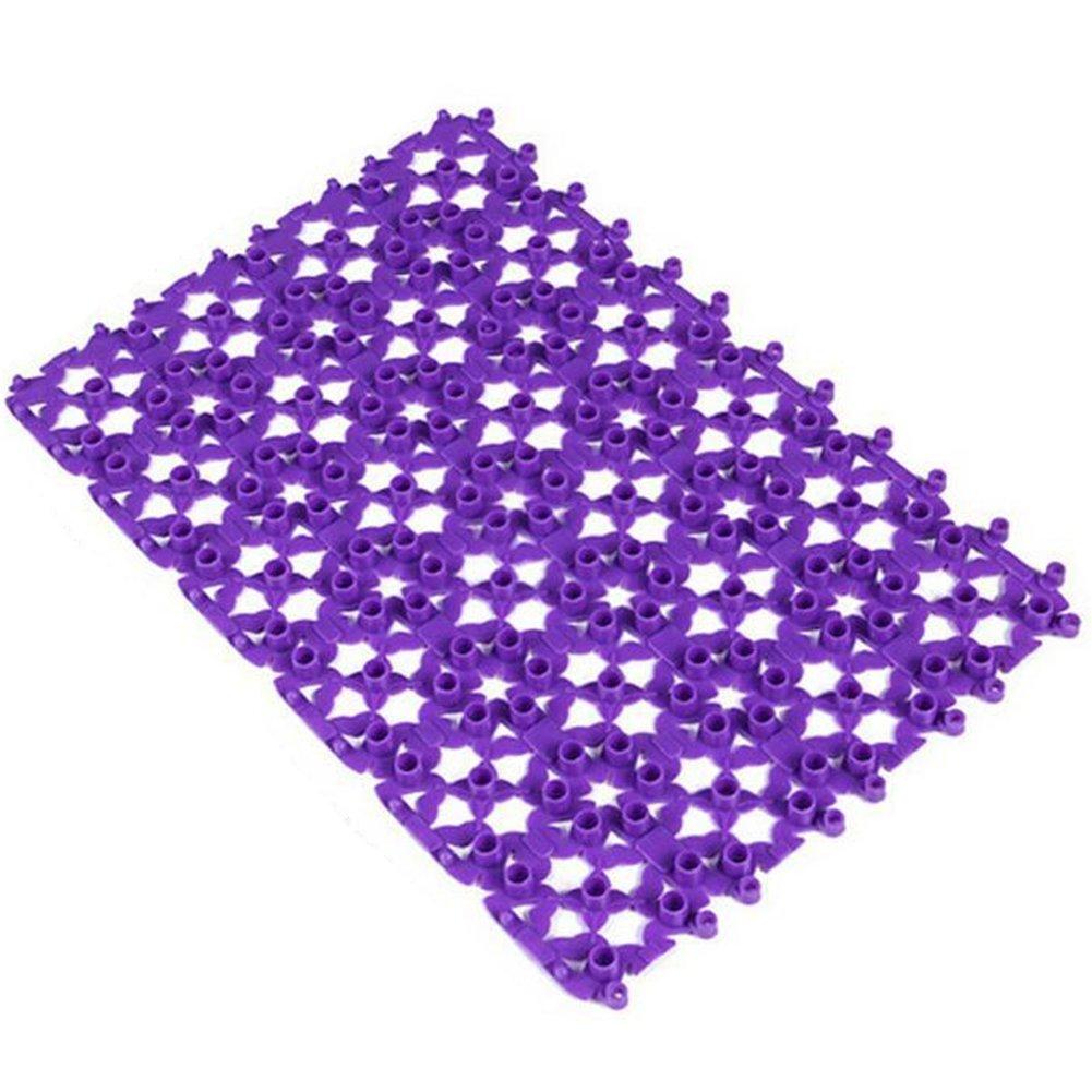 nikgic pura Color PVC–Alfombrilla antideslizante de baño masaje ducha Alfombra Agua soportar suelo alfombra para el hogar Baño Coffee Shop Hotel 25X 25Cm Color aleatorio