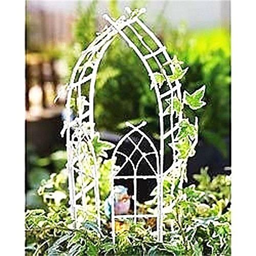 Mini Dollhouse FAIRY GARDEN Accessories - Willow Arbor - White - My Garden Miniatures ()