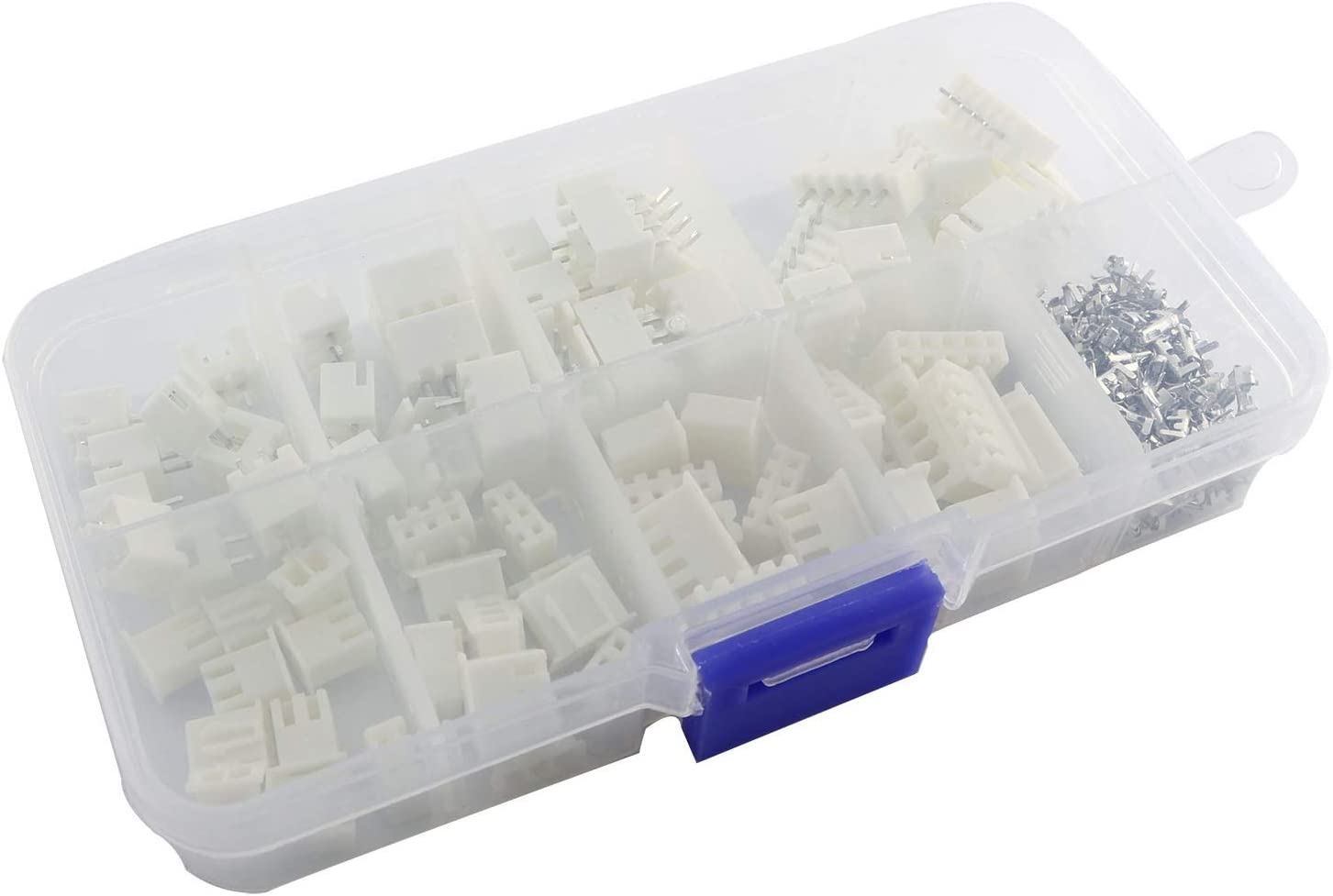 Partstock 230pcs XH 2.54mm 2/3/4/5 Pin JST Connector Male/Female Wire Cable Header Housing Adaptor Terminal Kit