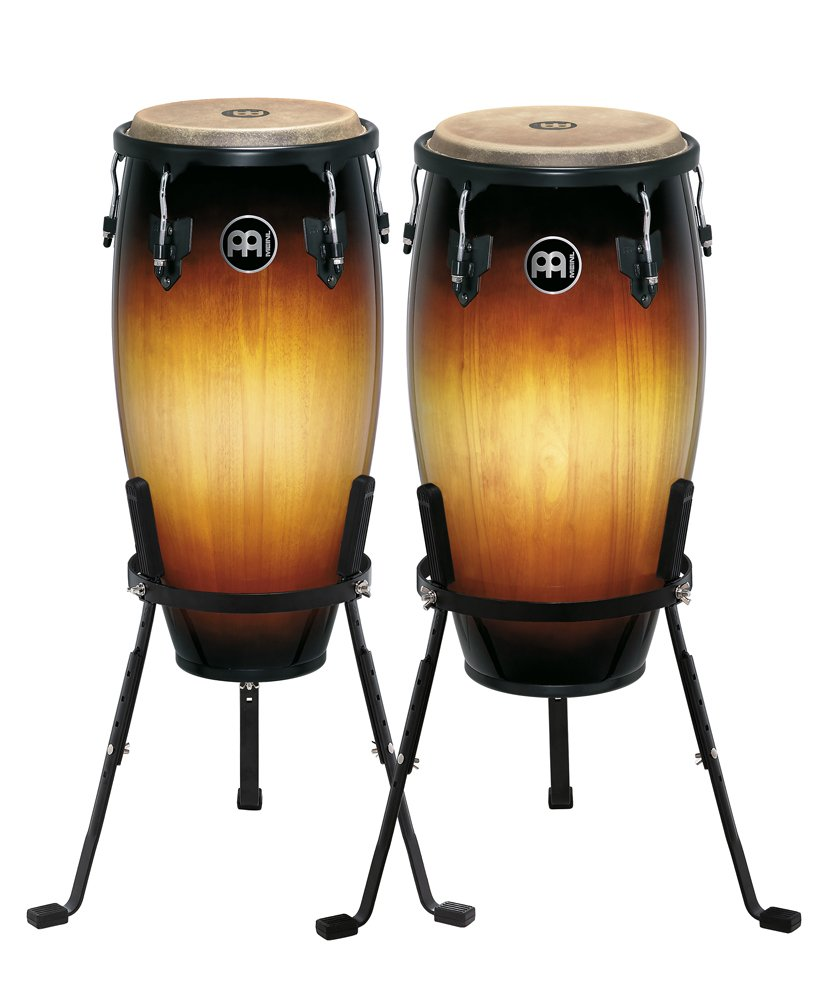 Meinl Percussion HC512VSB Headliner Series 11-Inch and 12-Inch Conga Set With Basket Stands, Vintage Sunburst