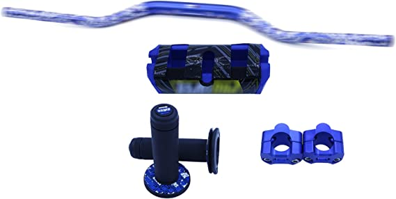 Farbe : Blau CBFYKU 22mm Universal Motorrad Lenker Teil Racing Motorrad Lenker F/ür Protaper Yamaha KTM Motocross Moto Grip Pit Bike