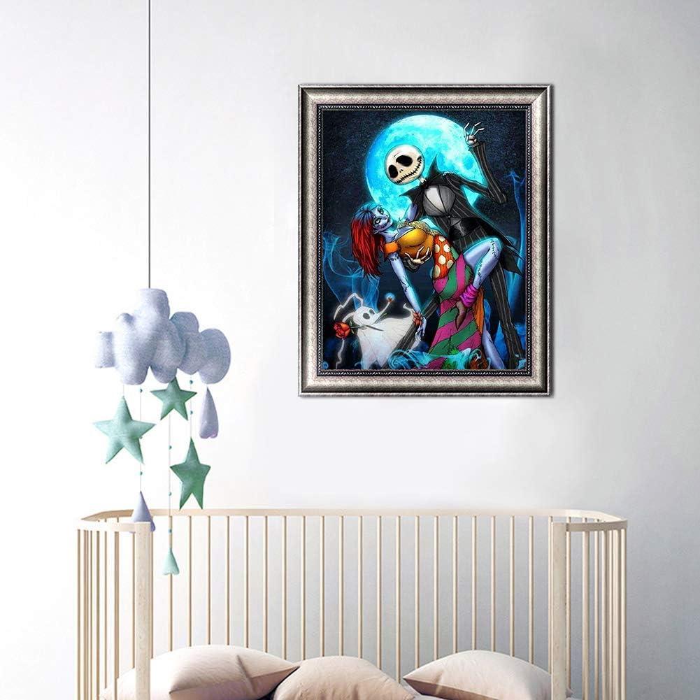 The Nightmare Before Christmas Halloween Full Drill Rhinestones Paint with Diamonds Crystal Diamond Art Jack DIY 5D Diamond Painting by Numbers Kits Jack and Sally