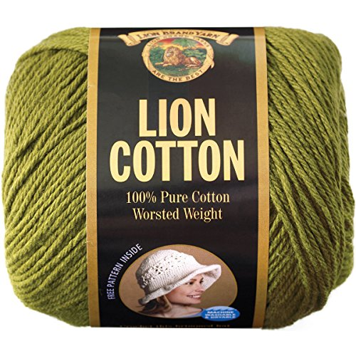Lion Brand Yarn 760-134D Lion Cotton Yarn, Avocado