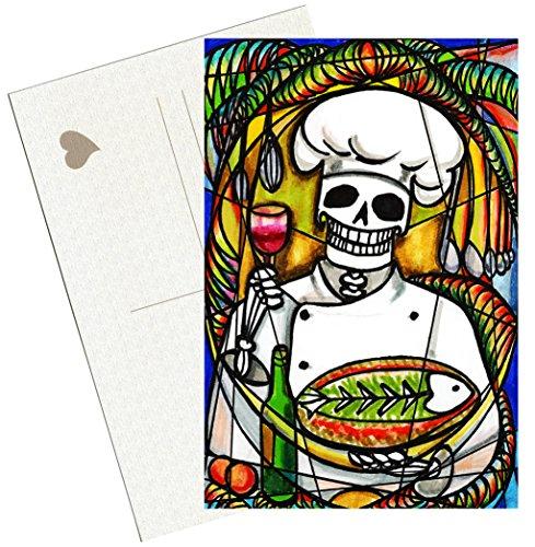 Head Postcard (Dead Head Chef Skull 4