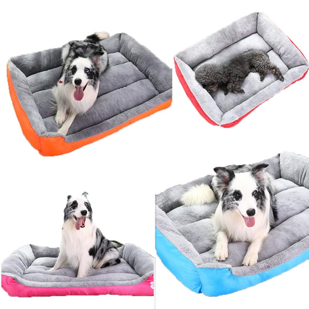 HeiPlaine Pet Sofa Pet Supplies Candy-colord Teddy Pets Small And Medium-sized Dogs Dog Bed Cat Litter golden Retriever Dog Kennel,Multi-colord-S