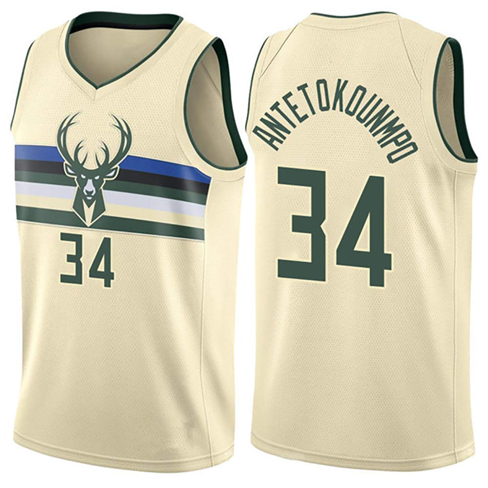 sneakers for cheap 71f56 3b972 Kangrui Antetokounmpo Milwaukee Bucks #34 Giannis Jersey ...