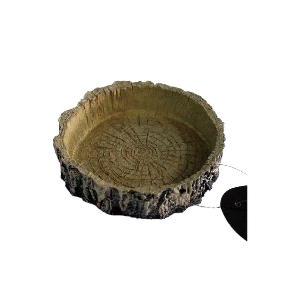 Bol à Nourriture Forme de Souche Creuse à Reptile Décoration Vivarium Generic