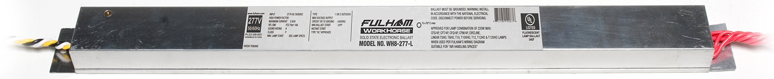 Fulham WH8-277-L Workhorse Adaptable Ballast