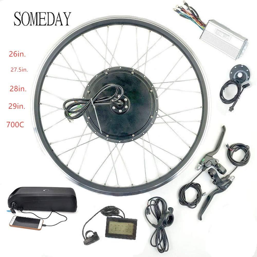 SOMEDAY 48V 1000W 17.5AH / 21AH Kit de conversión de Bicicleta eléctrica BLCD Motor de Cubo de Rueda de Cassette Trasero con Pantalla LCD con batería(Múltiples tamaños de Rueda): Amazon.es: Deportes y