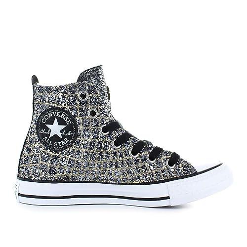 Zapatos de Mujer Zapatilla Converse All Star Croco Oro Plata Otoño Invierno 2019: Amazon.es: Zapatos y complementos