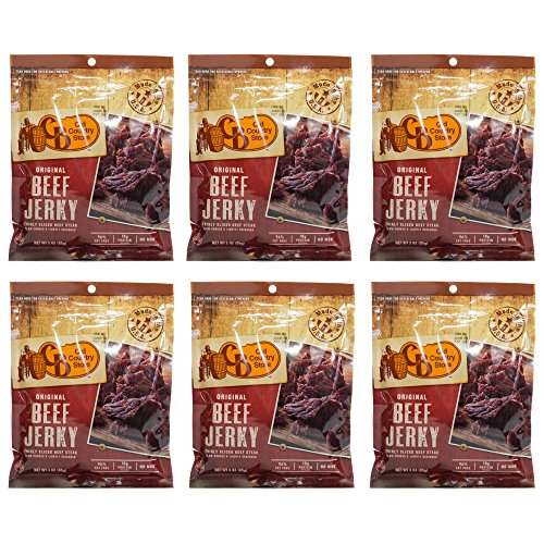 CB Old Country Store Hickory Smoked Original Beef Jerky, No MSG, Thinly Sliced Beef Steak, 6 - Duke Store Go