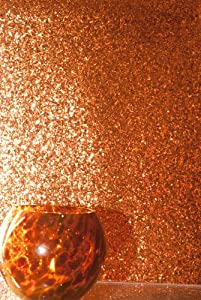Glitter Wallpaper (Orange) - price per metre: Amazon.co.uk ...