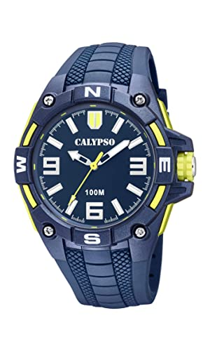 Calypso Watches Reloj Analógico para Hombre de Cuarzo con Correa en Plástico K5761/2: Amazon.es: Relojes
