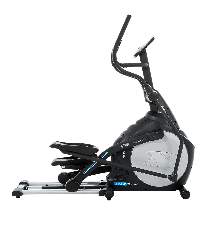Bicicleta Eliptica semiprofesional plegable de tracción delantera, con 18 Kg de rueda de inercia. 16 niveles de resistancia motorizada.