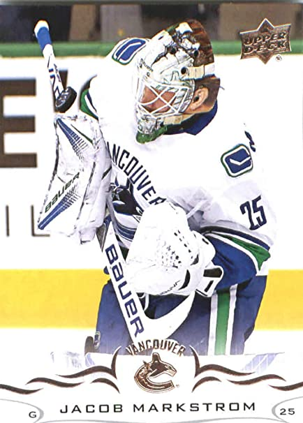 Amazon Com 2018 19 Upper Deck Hockey Card 172 Jacob Markstrom Vancouver Canucks Official Ud Trading Card Collectibles Fine Art