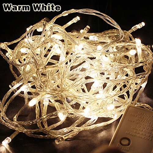 Meiguangyuan10m 33ft 100 Led Bulbs Pretty Indoor Outdoor Fairy String Lights for Wedding Party Christmas LED...