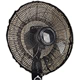 Insho 50 x 20 cm Washable Dustproof Safety Fan Dust Cover Net Kid Finger Protector - Black