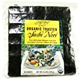 Gold Mine Organic Toasted Sushi Nori, 50 Sheet, 4.4 Ounce