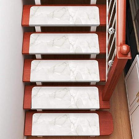 LANGPIG 15 Piezas de Alfombrillas para escaleras alfombras para el hogar alfombras Antideslizantes alfombras de Piso de PVC alfombras de Escalera-Mármol 2_Cuadrado 70 * 22 cm: Amazon.es: Hogar