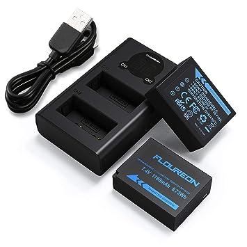 NP-W126S NP-W126 Fujifilm 2*Batería de Repuesto y Smart LED Cargador Dual USB para Fujifilm FinePix HS30EXR HS35EXR HS50EXR X-A1 X-A2 X-E1 X-H1 X-M1 ...