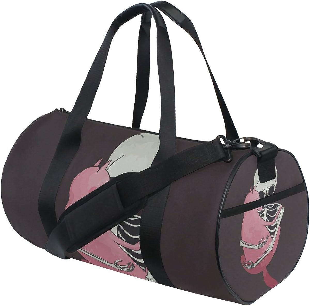 Evolutions Skull Cat Travel Duffel Bag Sports Gym Bag For Men /& Women