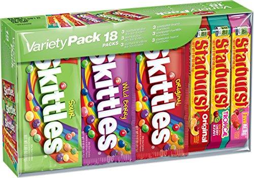 Sour Skittles Bite - Skittles & Starburst Candy Variety Pack, 18 Single Packs