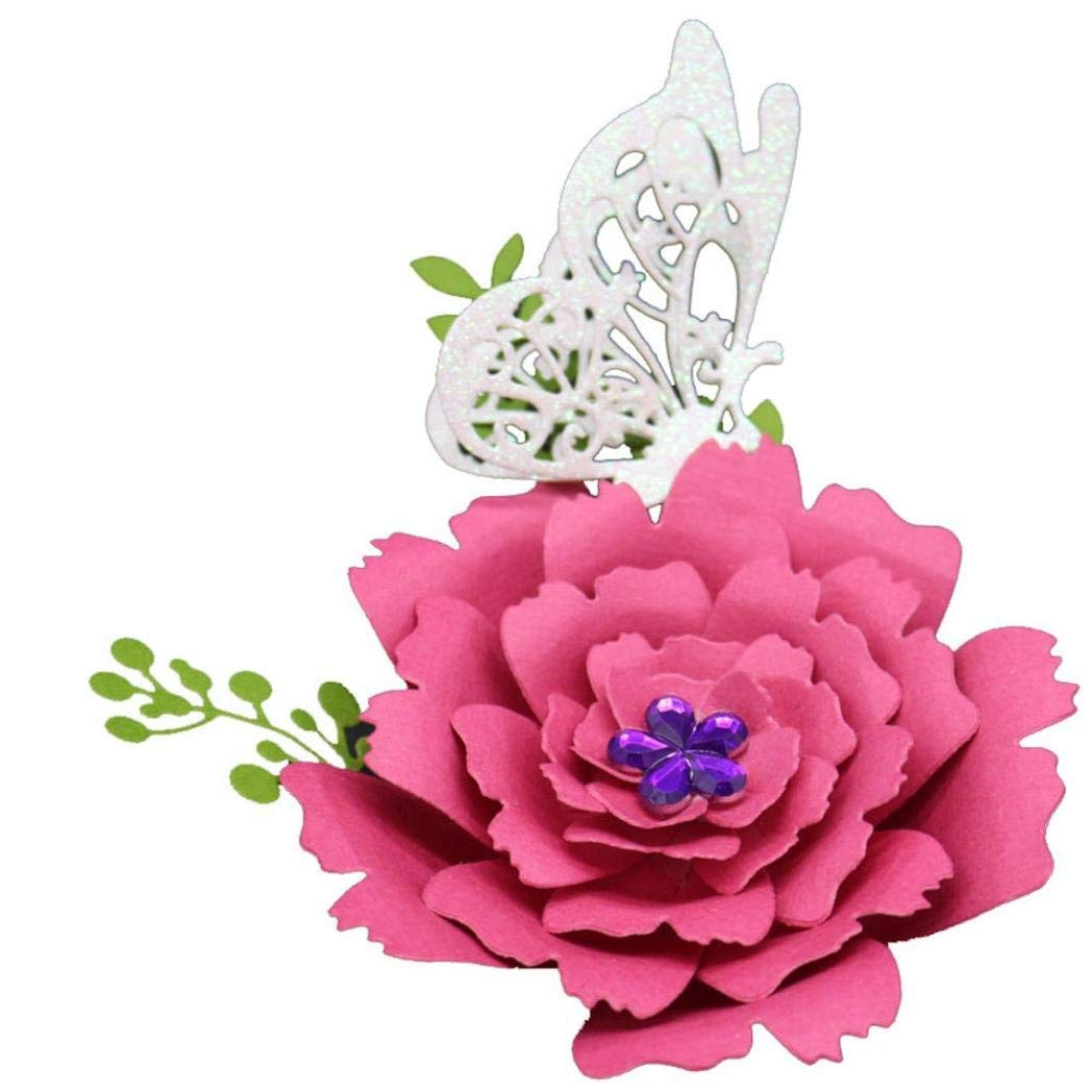 H Staron Metal Cutting Dies Lace Flower Card Making Wedding Gift Die Cuts Stencils Template For DIY Scrapbooking Album Decorative Cutting Dies Cut Embossing Paper Card