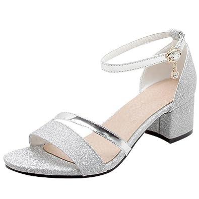 Artfaerie Damen Open Toe Flach Sandalen mit Schleife Slingback Bequem Sandaletten Sommer Niedriger Absatz Schuhe