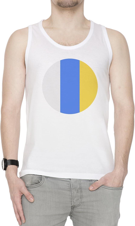 Canario Islas Nacional Bandera Hombre De Tirantes Camiseta Blanco ...