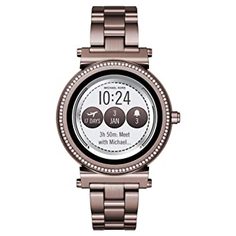 be6c36f4af2d Michael Kors Womens Digital Connected Wrist Watch with Stainless Steel  Strap Sofie  Amazon.co.uk  Watches