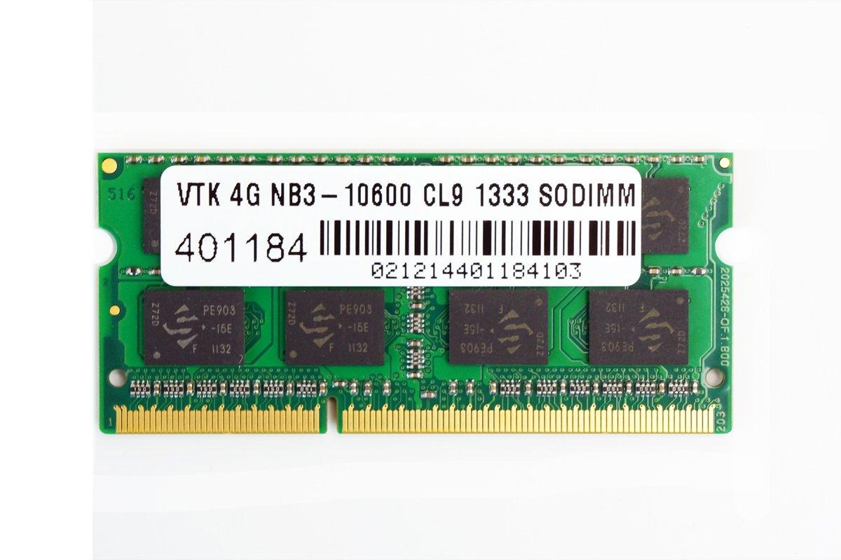 Memoria Ram 4GB DDR3 1333MHZ PC3-10600 SODIMM VISIONTEK
