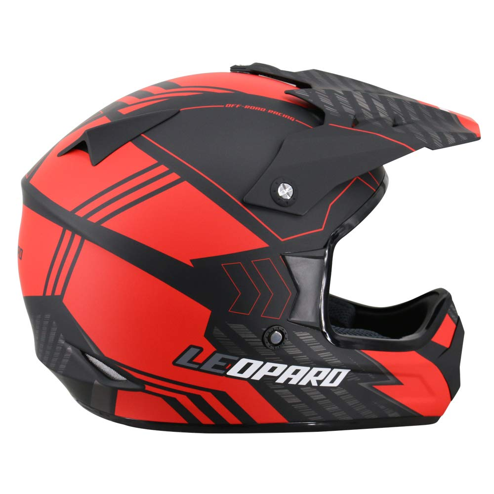 Leopard LEO-X307 Motocross HELMET /& Motorcycle Gloves Matt Black L MX Quad ATV Sports Enduro Crash Helmet ECE 22.05 Certified 59-60cm