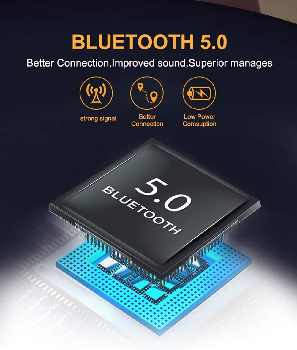 Mini Auriculares Bluetooth internos de 15 Horas para Android iOS # BY6 2020 Auriculares inal/ámbricos Bluetooth con cancelaci/ón de Ruido
