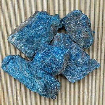 ZQYBH - Piedras naturales de apatita en bruto, piedras de cristal y grava minerales, piedras preciosas ásperas, colección de ejemplares, decoración del hogar