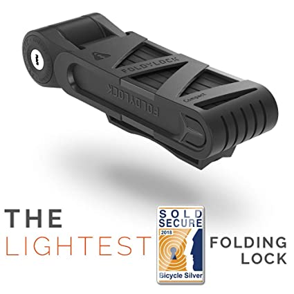 dd84ae900f7 FOLDYLOCK Compact Bike Lock Black | Extreme Bike Lock - Heavy Duty Bicycle  Security Chain Lock