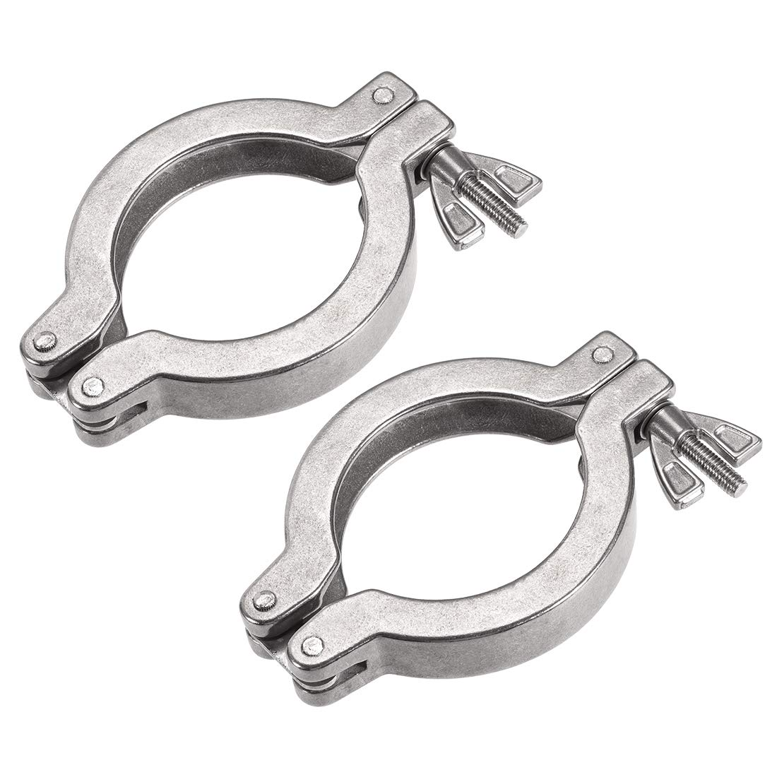 uxcell 2 Pcs Sanitary Tri-Clamp 82mm X 57mm Single Pin Tri Clamp Wing Nut for Ferrule TC