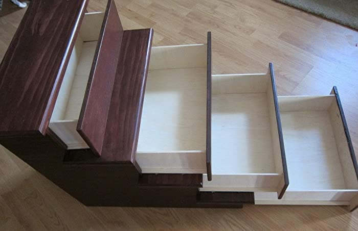 24u0026quot; Pet Stairs With Storage Drawers
