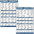Quickfit 2 Pack Dumbbell Workout Exercise Poster Volume 1 2 Laminated 18 X 27