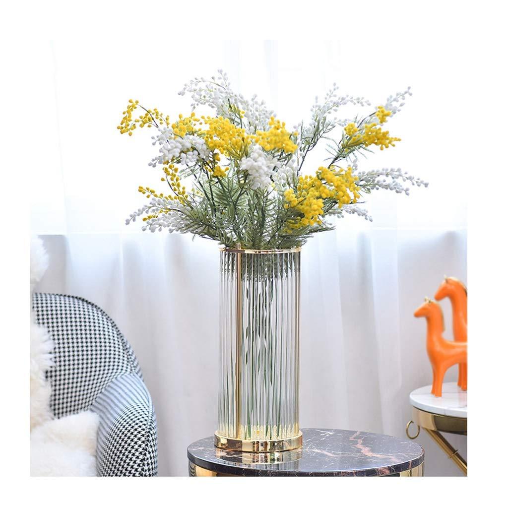 ガラス花瓶 個々のホテルの花瓶のためのユニークなスタイルと手作りのフラワーブーケ B07T4GDLWS