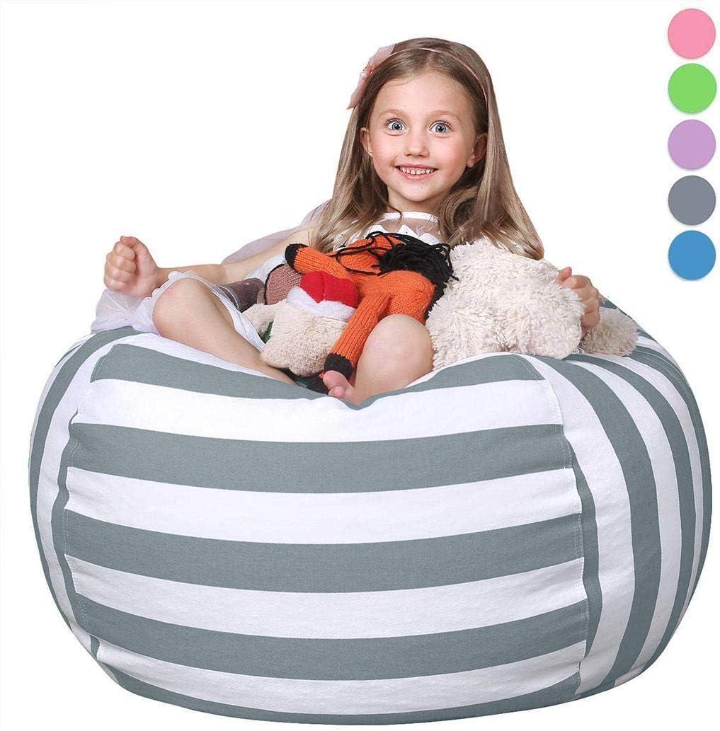 Plush Multi-Purpose Plush Toy Stuffed Animal Toy Storage Bag Packing Organizers Idomeo Stuffed Animal Bean Bag Storage Chair