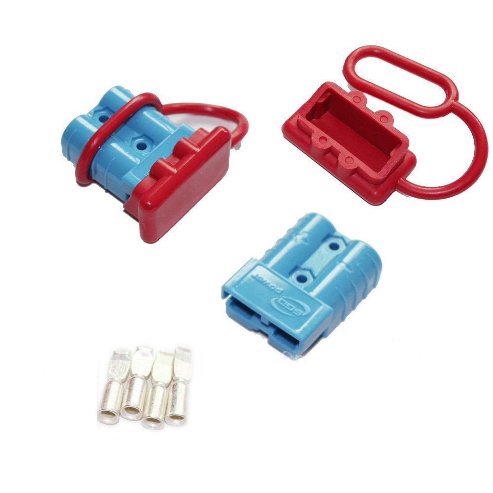X-Haibei 1 Pair Battery Quick Connector 50amp 6awg Trailer Plug Cover Winch Disconnect Connect