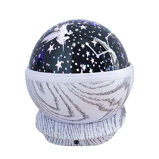 Estrellas Starry Sky Proyector LED Luna Lámpara de Noche Batería ...