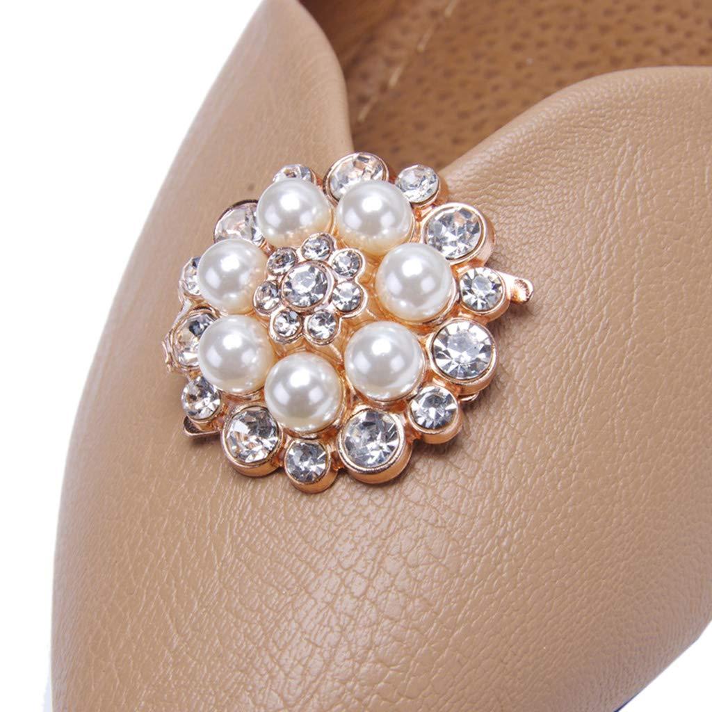 Bijoux de Chaussures pour Mariage Yanhonin 1 Paire Clips de Chaussures Strass Amovible Boucles Pinces pour Chaussures