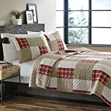 Extra Wide King Size Quilts Eddie Bauer Cotton Quilt Set, King, Camino Island