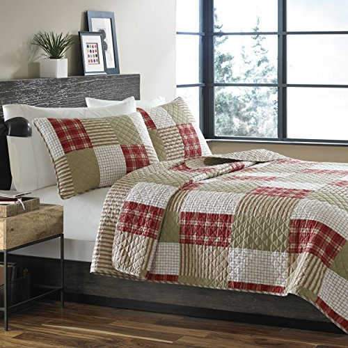 Eddie Bauer Camino Island Quilt Set, Full/Queen, Red