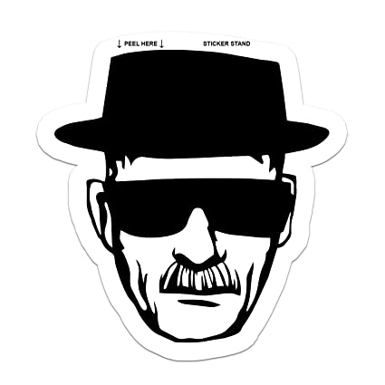 Breaking bad heisenberg walter white sticker decal