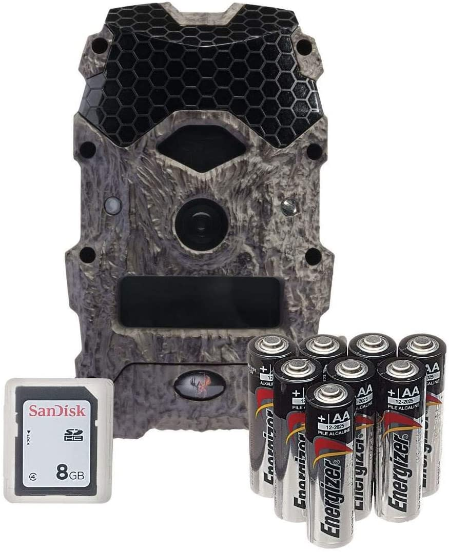 Wildgame Innovations Mirage 18 MP Hunting Trail Game Camera with 8GB SD Card Batteries, Adaptive Illumination, and HD photo and 720p Video, TruBark Camo