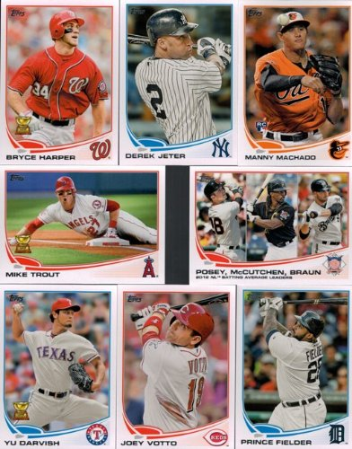2013 Topps MLB Baseball EXCLUSIVE MASSIVE 666 Card Factory Sealed Retail Factory Set. Includes all Series 1 and 2 Cards plus 5 Bonus Rookie Variation Cards!
