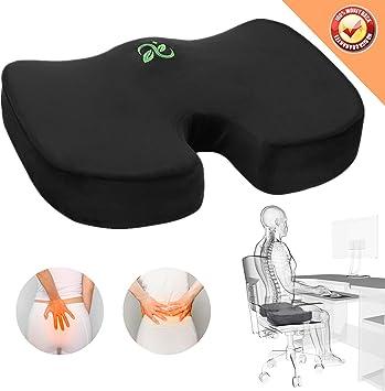 Amazon.com: Cojín de asiento de oficina Coccyx – Cojines de ...
